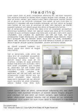 Airy Interior Word Template, First Inner Page, 10564, Careers/Industry — PoweredTemplate.com