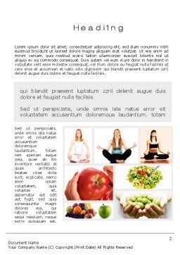 Sports and Lifestyle Word Template, First Inner Page, 10565, People — PoweredTemplate.com
