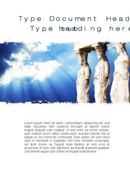 Ancient Word Template, Cover Page, 10566, Education & Training — PoweredTemplate.com