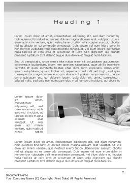 High Tech Economy Word Template, First Inner Page, 10567, Technology, Science & Computers — PoweredTemplate.com