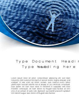 The Sea of Information Word Template, Cover Page, 10569, Technology, Science & Computers — PoweredTemplate.com