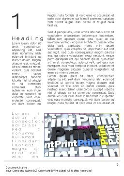 Print Word Template, First Inner Page, 10574, Careers/Industry — PoweredTemplate.com