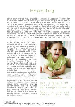 Young Artist Word Template, First Inner Page, 10576, People — PoweredTemplate.com