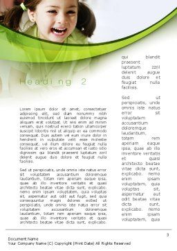 Young Artist Word Template Second Inner Page