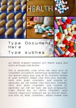Clinical Pharmacology Word Template, Cover Page, 10578, Medical — PoweredTemplate.com