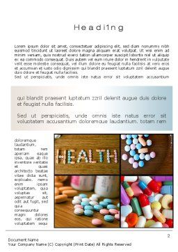 Clinical Pharmacology Word Template, First Inner Page, 10578, Medical — PoweredTemplate.com