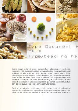 Proteins Fats and Carbohydrates Word Template, Cover Page, 10581, Food & Beverage — PoweredTemplate.com