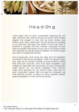 Proteins Fats and Carbohydrates Word Template Second Inner Page