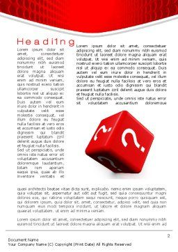 Question Cube Word Template, First Inner Page, 10582, Consulting — PoweredTemplate.com