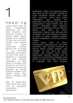 VIP Card Word Template First Inner Page