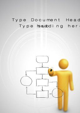 Algorithm Word Template, Cover Page, 10587, Technology, Science & Computers — PoweredTemplate.com