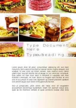 Fast Food Set Word Template, Cover Page, 10590, Food & Beverage — PoweredTemplate.com