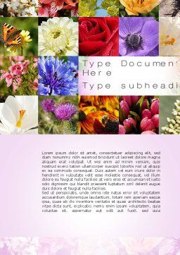 Variety of Flowers Word Template, Cover Page, 10597, Careers/Industry — PoweredTemplate.com