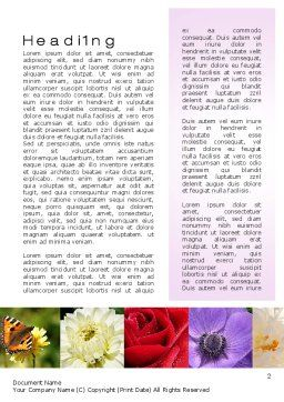 Variety of Flowers Word Template, First Inner Page, 10597, Careers/Industry — PoweredTemplate.com