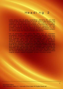 Orange Background Word Template, Second Inner Page, 10599, Abstract/Textures — PoweredTemplate.com