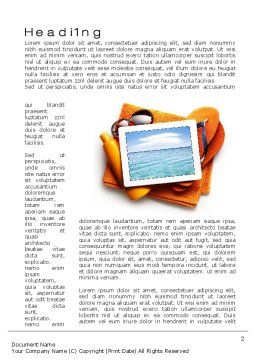 Sea Holydays Word Template, First Inner Page, 10600, Careers/Industry — PoweredTemplate.com