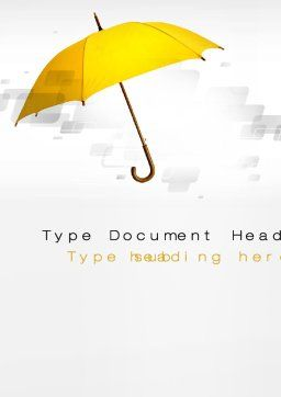 Yellow Umbrella Word Template, Cover Page, 10602, Business Concepts — PoweredTemplate.com