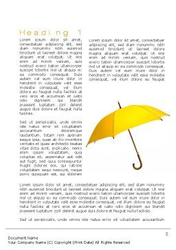Yellow Umbrella Word Template, First Inner Page, 10602, Business Concepts — PoweredTemplate.com
