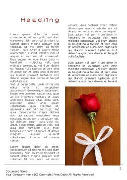 Romantic Word Template First Inner Page