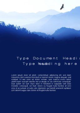 Mountain Silhouettes Word Template, Cover Page, 10605, Nature & Environment — PoweredTemplate.com