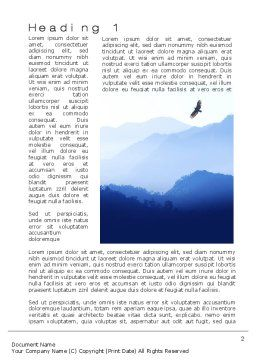 Mountain Silhouettes Word Template, First Inner Page, 10605, Nature & Environment — PoweredTemplate.com
