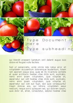Lettuce and Tomato Word Template, Cover Page, 10606, Food & Beverage — PoweredTemplate.com