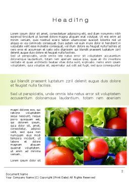 Lettuce and Tomato Word Template, First Inner Page, 10606, Food & Beverage — PoweredTemplate.com