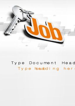 Job Key Word Template Cover Page