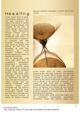 Time is Up Word Template, First Inner Page, 10608, Consulting — PoweredTemplate.com