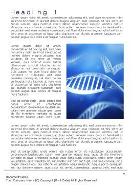 DNA Theme Word Template, First Inner Page, 10609, Technology, Science & Computers — PoweredTemplate.com