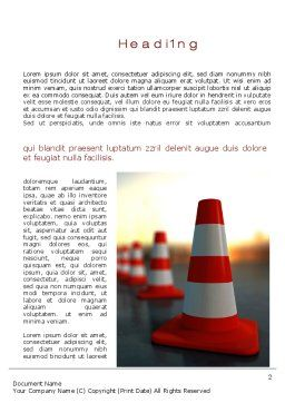 Traffic Pylons Word Template First Inner Page