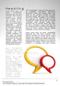 Dialog Bubbles Word Template First Inner Page