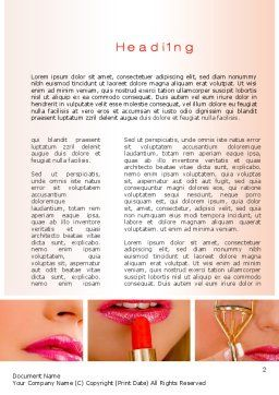 Makeup Word Template First Inner Page