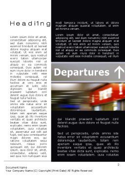 Departures Word Template, First Inner Page, 10619, Cars/Transportation — PoweredTemplate.com