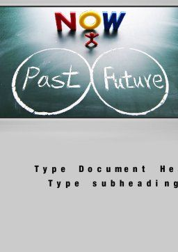 Crossroads of Time Word Template, Cover Page, 10621, Business Concepts — PoweredTemplate.com