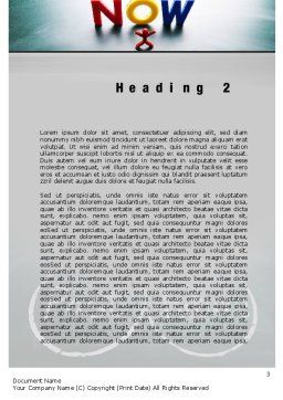 Crossroads of Time Word Template, Second Inner Page, 10621, Business Concepts — PoweredTemplate.com