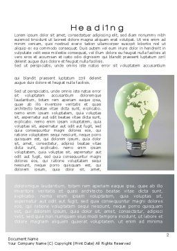 World Energy Bulb Word Template, First Inner Page, 10623, Nature & Environment — PoweredTemplate.com