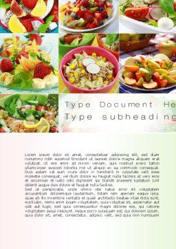 Salads Word Template, Cover Page, 10625, Food & Beverage — PoweredTemplate.com