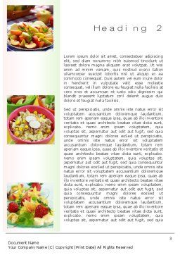 Salads Word Template, Second Inner Page, 10625, Food & Beverage — PoweredTemplate.com