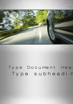 Driving on Winding Road Word Template Cover Page