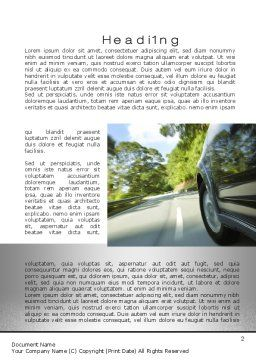 Driving on Winding Road Word Template First Inner Page