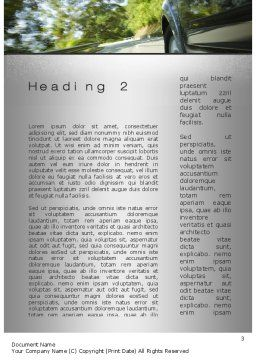 Driving on Winding Road Word Template Second Inner Page