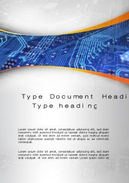 Chip Design Word Template, Cover Page, 10627, Technology, Science & Computers — PoweredTemplate.com