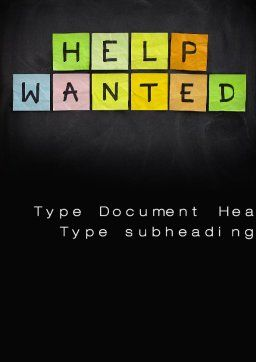 Help Wanted on Blackboard Word Template Cover Page