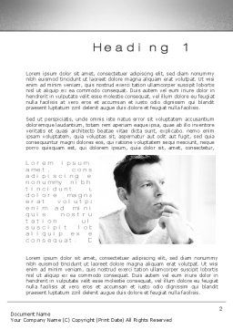 Thinking Man Word Template, First Inner Page, 10630, People — PoweredTemplate.com