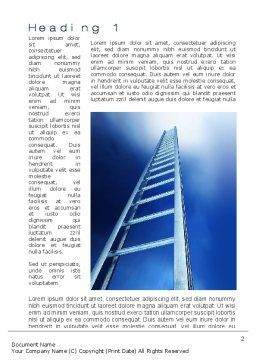 Career Ladder Word Template, First Inner Page, 10632, Careers/Industry — PoweredTemplate.com