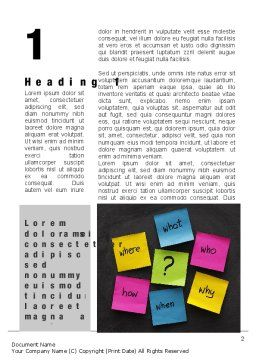 Curiosity Word Template First Inner Page
