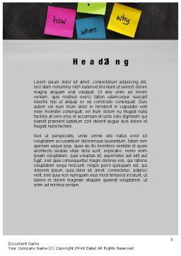 Curiosity Word Template, Second Inner Page, 10633, Education & Training — PoweredTemplate.com