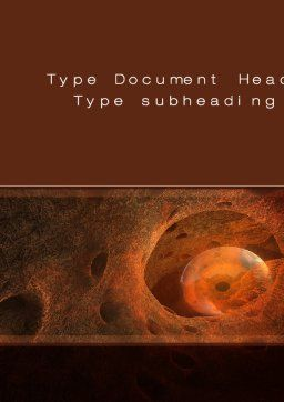 Inside the Human Body Word Template, Cover Page, 10635, Medical — PoweredTemplate.com
