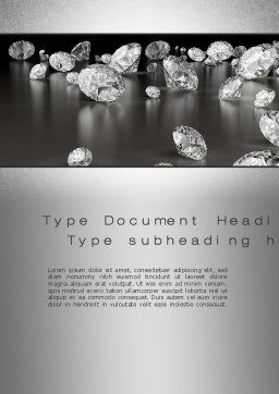Sprinkle of Diamonds Word Template Cover Page